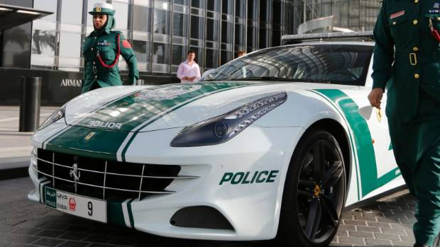 The Dubai Police fleet of cars includes Aston Martin, Bentley Continental GT Coupe, Ferrari, and a recently added Bugatti Veyron.